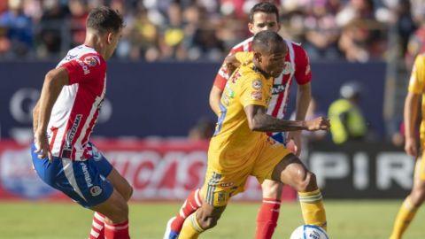 San Luis rescató el empate con uno menos ante Tigres