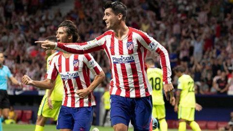 El renovado Atlético debuta con victoria en la Liga española