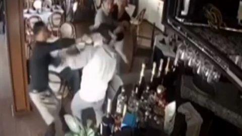 VIDEO: Mesero enfrenta a delincuente en restaurante de Jalisco