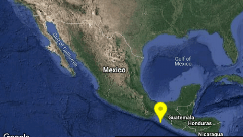 Se registra sismo de magnitud 4.7 en Pijijiapan, Chiapas