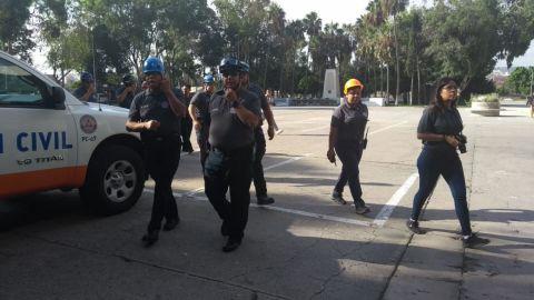 Preparativos de sismo en Palacio municipal de Tijuana