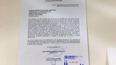 PAN niega registro a Carlos Heriberto Aguirre