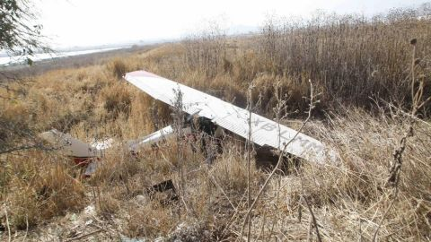 Se desploma avioneta en Temixco, Morelos; fallecen dos tripulantes
