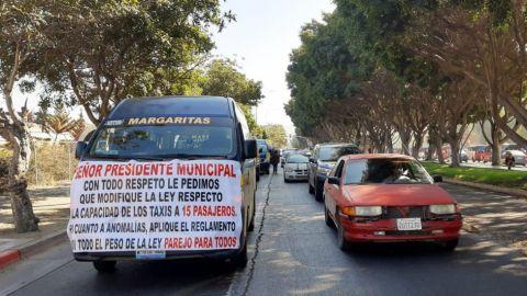 Exigen transportistas piso parejo en aplicación de la Ley
