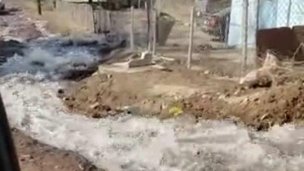 FOTOS: Denuncian fuga de agua en el ejido Lázaro Cárdenas - Cadena Noticias