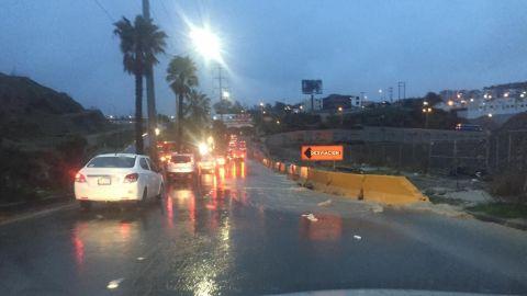 Caos en Tijuana por lluvias