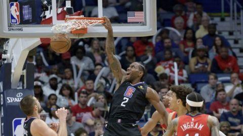Leonard anota 39, Clippers remontan para vencer a Pelicans