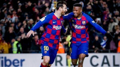 Messi le da el el triunfo al Barça en el debut de Setién