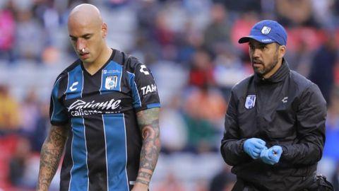 Confirma el Querétaro fractura de nariz de Ariel Nahuelpán