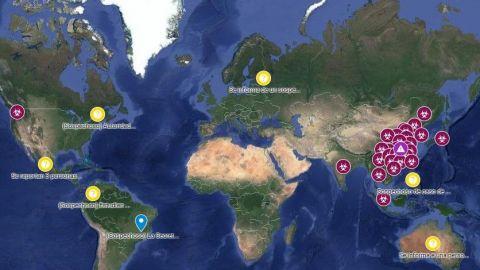 Google maps muestra propagación del coronavirus
