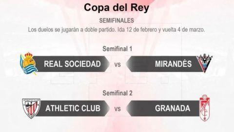 Listas, las semifinales de la Copa del Rey