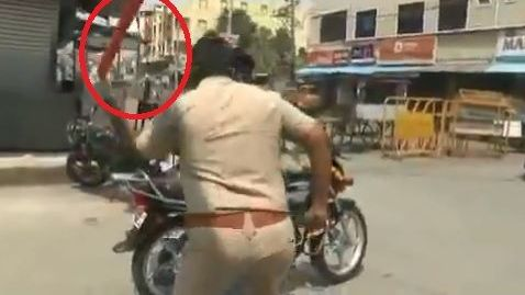 VIDEO: Así castigan a quienes rompen la cuarentena en la India