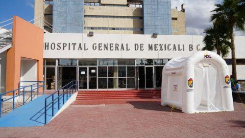 Instalan túnel sanitizante en Hospital General de Mexicali