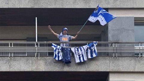 Viven su final de Copa del Rey en los balcones
