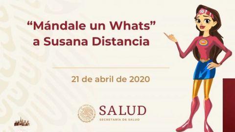 Susana Distancia resolverá dudas por chat de WhatsApp