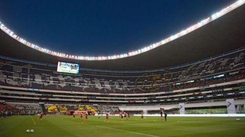 Cancha del estadio Azteca se beneficia del parón por COVID-19