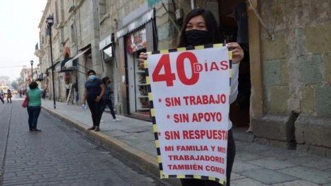 Comerciantes de Oaxaca protestan y abren negocios ante crisis