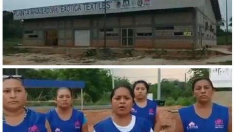 VIDEO: La cooperativa exótica textil se declara en resistencia civil