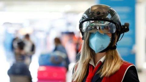 Aeropuerto de Roma usa cascos inteligentes para detectar coronavirus