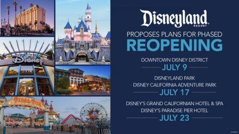 Disneyland propone reabrir en Julio