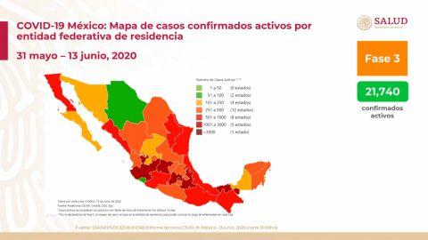 Suman 16 mil 872 muertes por Covid-19 en México