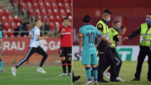 La Liga toma acciones contra aficionado en el Mallorca vs Barcelona