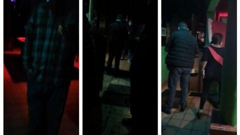 VIDEOS: Bar operaba ilegalmente a obscuras, fue clausurado por Reglamentos