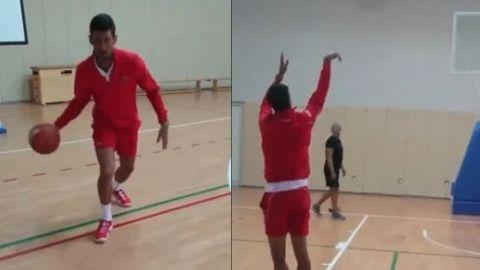 Djokovic reta a LeBron a un partido de basquetbol