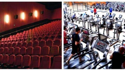 Cines y gimnasios continuarán cerrados en Baja California