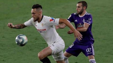 Sevilla empata de penalti en el tramo final ante sólido Valladolid