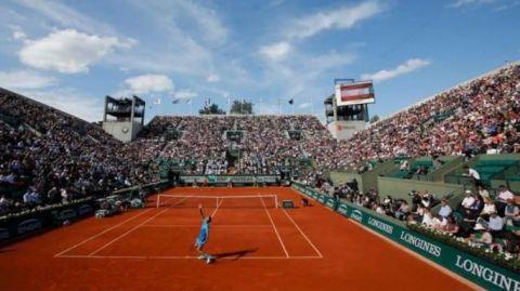 Hasta 20 mil aficionados por día en Roland Garros