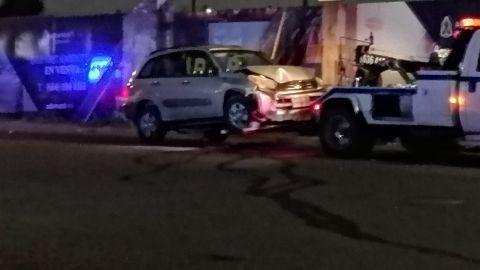 Dos policías heridos durante persecución en bulevar Agua Caliente