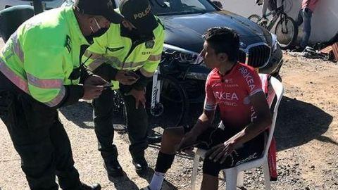 Atropellan a Nairo Quintana en entrenamiento en Colombia