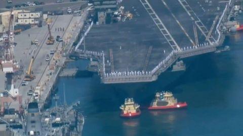 Permiten a portaviones atracar en San Diego