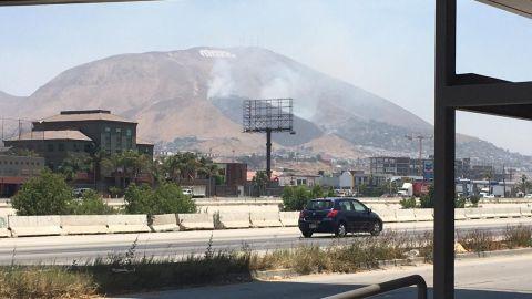 Se incendia el cerro colorado