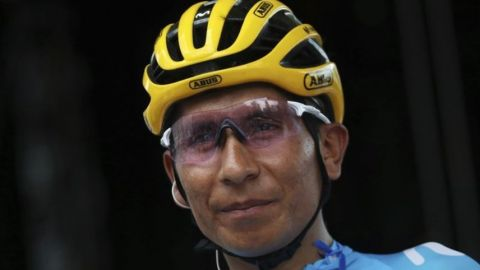 Tras accidente, Quintana vuelve a entrenar en Colombia