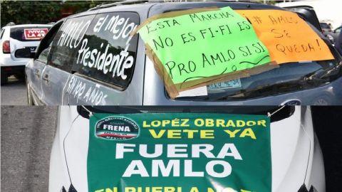 Manifestaciones en Jalisco por visita de AMLO