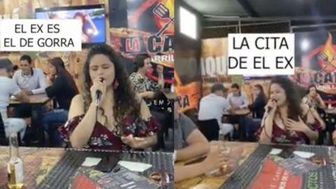 VIDEO: Encuentra a su ex con nueva novia y le dedica una canción en karaoke