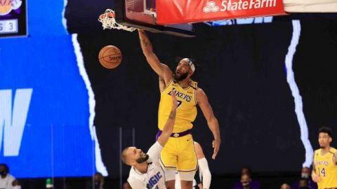 Lakers ganan previo al reinicio de la NBA