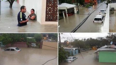Huracán Hanna deja inundado el Hospital Materno Infantil en Reynosa, Tamaulipas