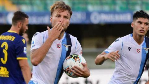 Immobile firma un triplete en la goleada del Lazio