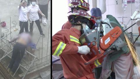 ⚠ IMPACTANTE VIDEO: Trabajador sobrevive tras ser ATRAVESADO por barras de acero