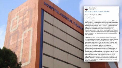 Trabajadores del Hospital General piden ayuda por falta de medicamentos