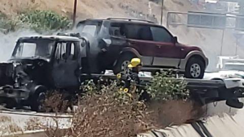 Cerrado el ''Gato Bronco'' por incendio de grúa