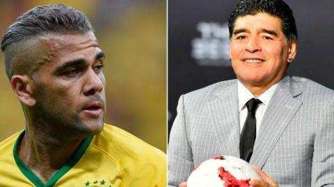 Maradona y Dani Alves se unen contra el coronavirus
