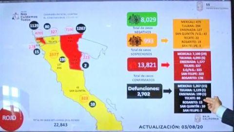 Conoce las colonias más contaminadas por coronavirus en Baja California