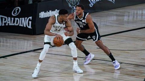 Con Giannis en la banca en 2do tiempo, Bucks caen ante Nets