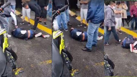 VIDEO: Someten a presunto ladrón y lo golpean hasta hacerlo llorar en Edomex