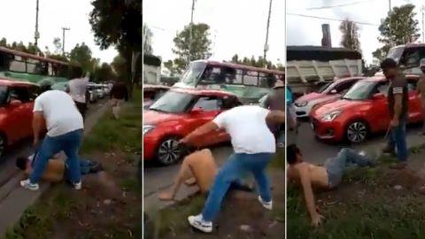 Video: Golpean a presunto ladrón en Mercado de plantas de Xochimilco