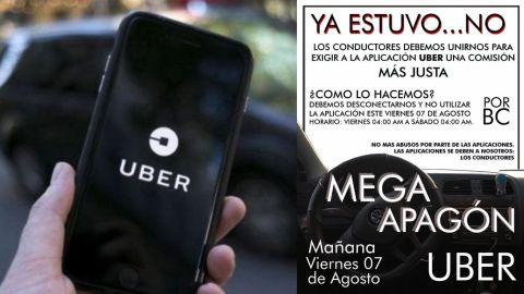 Operadores de Uber realizarán paro de actividades